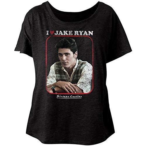 American Classics Sixteen Candles Jake Heart Ladies Short Sleeve Dolman T Shirt XXL