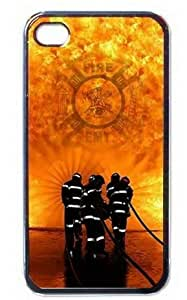Ebaykey Custombox EMT Firefighter Fireman Fire Rescue Best Durable Silicone Case Cover for iphone 4 4s
