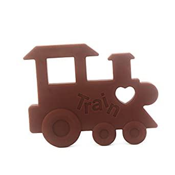 Amazon intipal silicone baby teething pendant toy train intipal silicone baby teething pendant toy train shape teether bpa free soothing pain mozeypictures Gallery