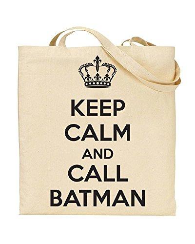 TeeDemon BATMAN Gift by Calm And Keep Novelty Handbag Bag CALL TOTE Shopping tfFgwP