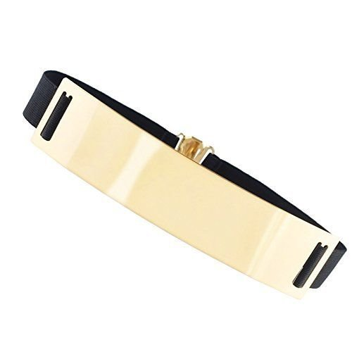 REINDEAR Metal Black Gold Belt Waistband with - Black Gold Metal
