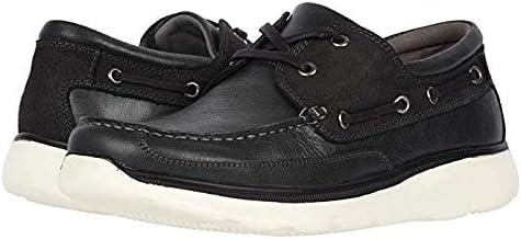 [プロペット] メンズスリッポン・ボートシューズ・靴 Orman Black Full Grain Leather/Nubuck Trim 28cm X (3E) [並行輸入品]