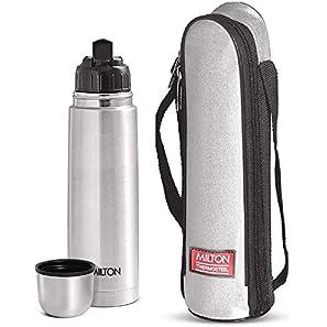 Milton Thermosteel Flip Lid Flask, 1000 milliliters, Silver