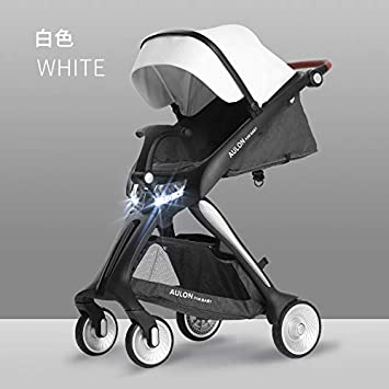 0d1377f56407 Amazon.com   AULON Portable Baby Stroller 2018 New Luxury high Landscape  Baby Stroller Travel System Lightweight PU high end Cars   Baby