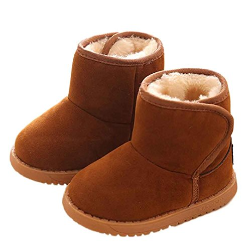 Voberry Baby Toddler Kids Children Girls Boys Winter Warm Boot Fur Lined Outdoor Snow Boots