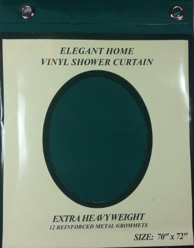 Amazon Extra Heavy Weight Vinyl Shower Curtain W Metal Grommets Hunter Green Home Kitchen