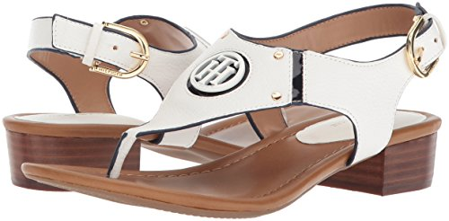 Sandal White Women''s Hilfiger Tommy navy Kissi Heeled I4xPpwnFqZ