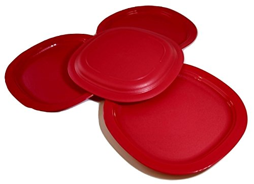 Tupperware Microwave Dessert Plates in Red by Tupperware!