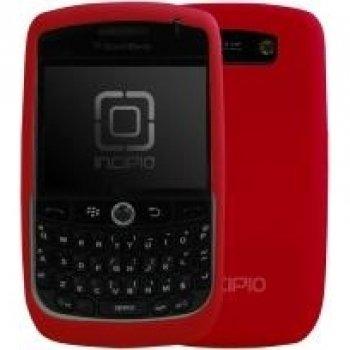 Incipio Silicone Dermashot Case - Incipio Technologies dermaSHOT Silicone Case for BlackBerry Curve 8900 (Molina Red)