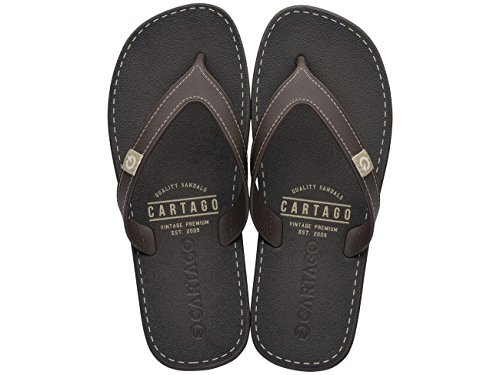 CARTAGO Hombre Talla 10738 Chanclas Color 43 Marron rZravx
