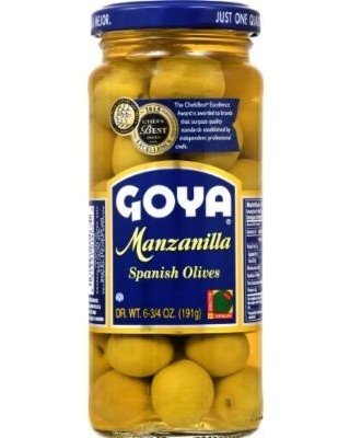 Goya Manzanilla Spanish Olives - 6.75 oz Glass Jar