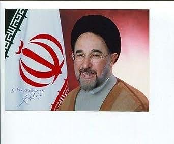President Mohammad Khatami President Of Iran Rare Signed Autograph Pho
