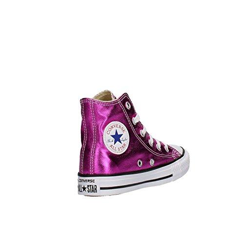 Junior Hi CTAS Converse Lampone Vernice Mid 355556C Laminato Sneakers MOD Girl w7qd5q0