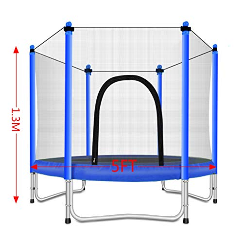 Fashionsport OUTFITTERS Trampoline with Safety Enclosure -Indoor or Outdoor Trampoline for Kids-Blue-5FT by Fashionsport OUTFITTERS (Image #4)