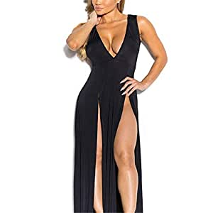 Lencería sexy, fracturas sexy en v profundo, vestido de vendaje ...