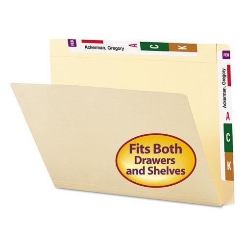 SMD24190 - Smead 24190 Manila Conversion Folder with Reinforced Top Tab and End Tab by Smead by Smead