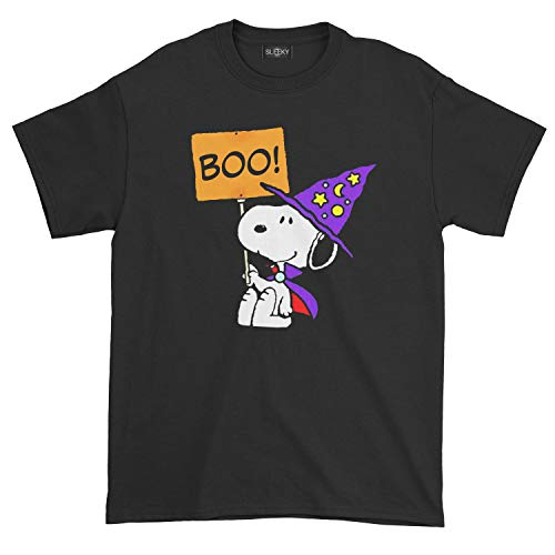 Men's Snoopy Halloween T-Shirt (S, Black)]()