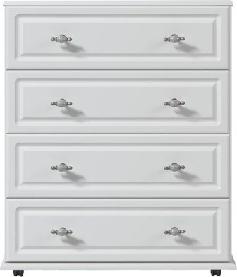 White 4 Drawer Chest Of Drawers Ready Assembled Oakland Modern