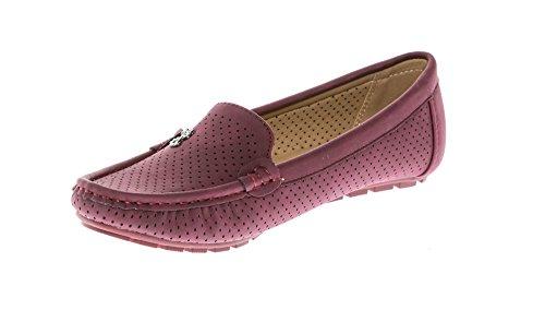 Flats CALICO Shoes Women's On Wine Loafers Mocassins KIKI Slip Comfort g0gqFr