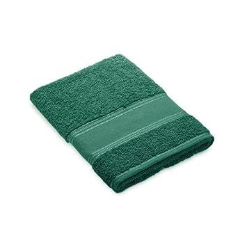Toalla de ducha verde oscuro para bordar a punto de cruz: Amazon.es: Hogar