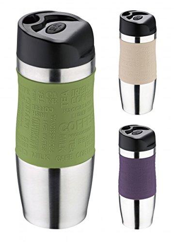 Thermobecher - Trinkbecher - Edelstahl/Kunststoff - 350 ml - Isolierbecher - Kaffeebecher - Coffee to go Becher - Farbe wählbar, Farbe:Oliv