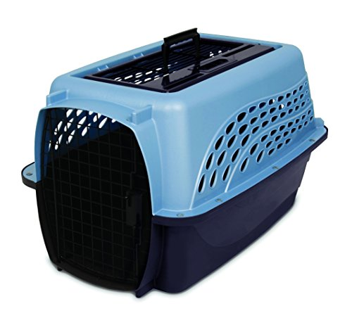 Load 24-Inch Pet Kennel, Metallic Pearl Ash Blue and Coffee Ground Bottom (Kennel Top)