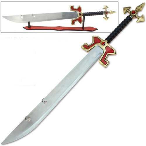 Master Legends Game Sword League Collectors Replica Edition All-Metal Glass Gems (Buy Cosplay Weapons)