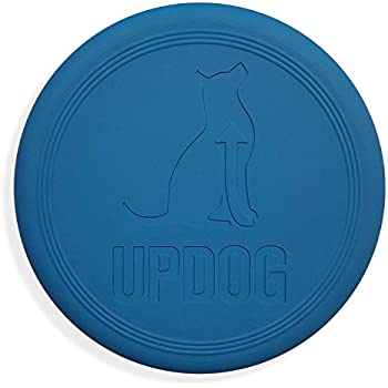 Dog Frisbee | Made in USA | UpDog Products Small 6-Inch Flying Disc for Dogs (Blue)