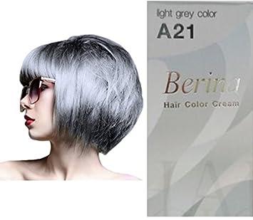 Amazon.com : Permanent Grey Hair Dye Color Cream Berina No. A21 ...