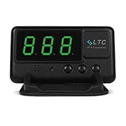 LTC® Original Digital Universal Car HUD GPS Speedometer Overspeed Alarm Windshield Project for All Vehicle Amazon choices green