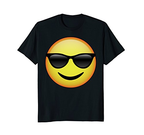 Mens HD Emoji Sunglasses Face Shirt - Emoticon Tee - Cool Emotag XL - Sunglasses Emoticon