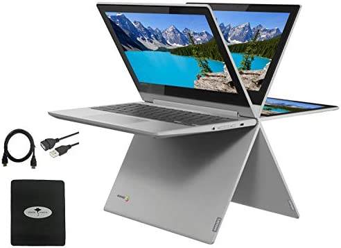 "2021 Newest Lenovo Chromebook Flex 3 2-in-1 11.6"" Convertible Touch Screen Laptop, 360°flip-and-fold Design, MediaTek MT8173C(Beat N4020), 4GB Memory, 32GB eMMC, PowerVR, Chrome OS w/GM Accessories"