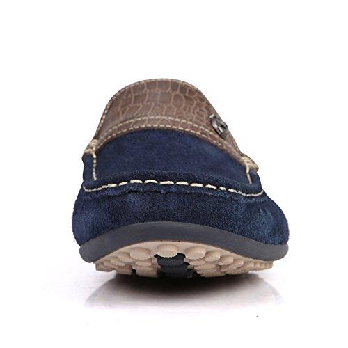 Botes Casual Zapatillas Para De Profundo Estilo Mocasines Empalme Yaer Ante Azul Paseo Hombres Los XSw8PqZa