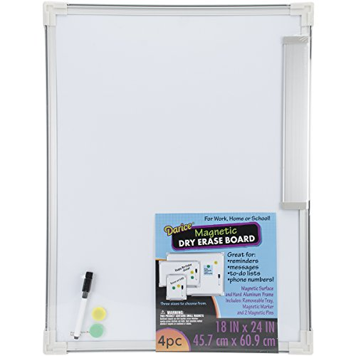 Darice 2511-37 Magnetic Dry Erase Board, 18 by 24-Inch