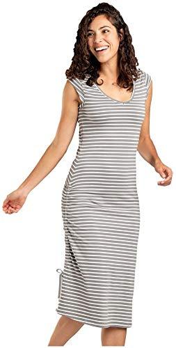 Toad&Co Muse Dress - Women's Smoke Balanced Stripe Small