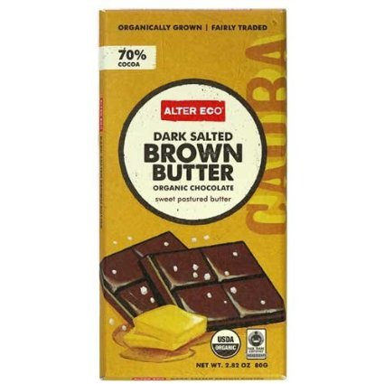Dark Salted Brown Butter Organic Chocolate 2.82 Ounces (Case of 12)