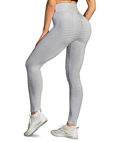 Yaavii Damen Gym Sport Leggings Kompressions Yoga Fitness Hose Lange Sporthose Stretch Workout Laufen Jogginghose mit Bauchkontrolle