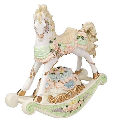Rocking Horse Music Box,Shake Clockwork European Style Carved Creative Desktop Decoration Gift