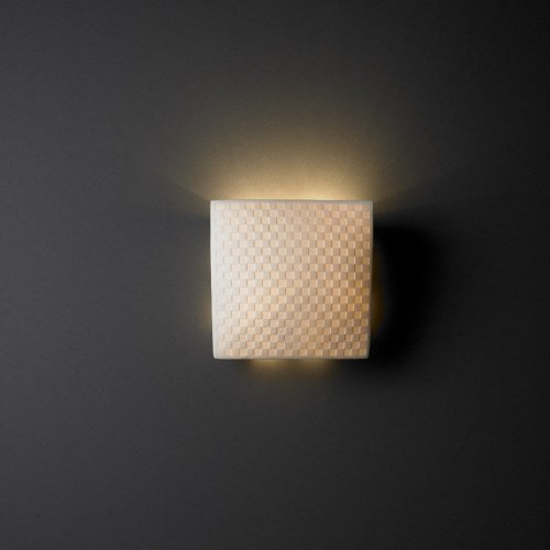 Justice Design Group POR-5120 Square ADA Compliant Wall Sconce from the Limoges, Checkerboard