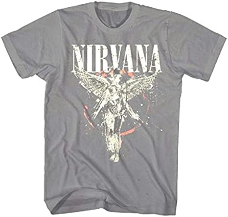 FEA fea-nv1476-l Nirvana Galaxy in utero camiseta – Color Gris – grande: Amazon.es: Deportes y aire libre