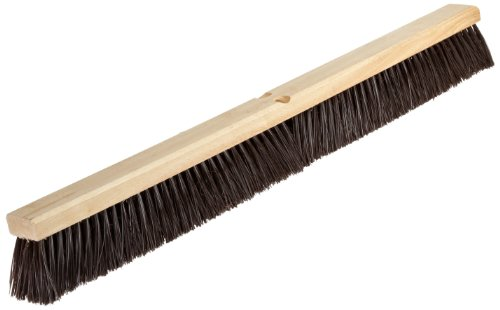 Nupla 68043 Hardwood Heavy Duty Hardwood Classic Broom Head with Bracket, 36'' Head Width, Natural by Nupla (Image #1)