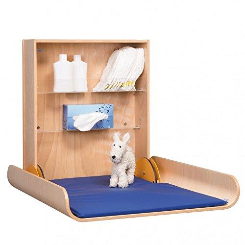 Holz Wickeltisch Klappbar Professional - Natur oder Weiß lackiert, Variante:Weiß 20 cm