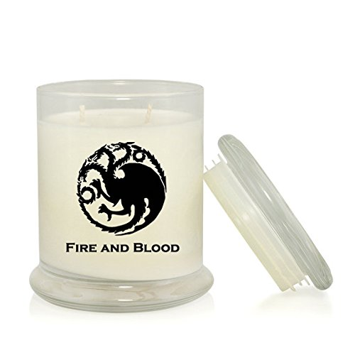 House Targaryan 8.5 oz. Candle - Mother of Dragons - Daenerys - Game of Thrones Merchandise - Dragons Blood and Fire Scent