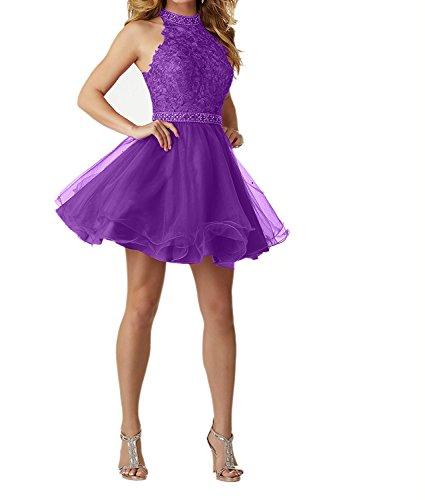Kleider Lila Festliche Spitze Ballkleid Damen Damen Kleider Kurz Charmant Navy mit Blau Jugendweihe Abendkleider O1xqvC