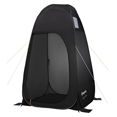 (KingCamp Portable Pop Up Privacy Shelter Dressing Changing Privy Tent Cabana Screen Room w Weight Bag for Camping Shower Fishing Bathing Toilet Beach Park, Carry Bag)