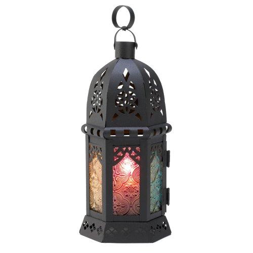 Gifts & Decor 57070452 Multi-Color Moroccan Style Lantern, Black (Pier Windsor One)