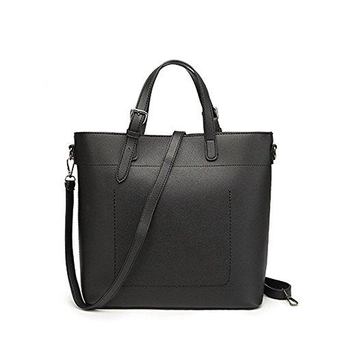 el capacidad para tamaño Cientos de las Penao gran simple Black moda bolsos hombro sola de señoras correa 31cmx12cmx30cm R4qUO