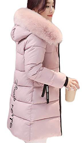 Doudoune Manteau Femme Longues Grande Taille Hiver Parka Elgante Warm Mode Manches Longues paissir avec Capuchon Fourrure breal Doudoune Coat Outwear De Bonne Qualit Rose