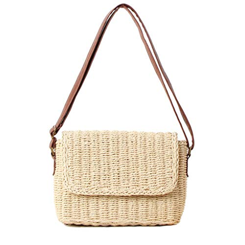 Retro Straw Bag Portable...