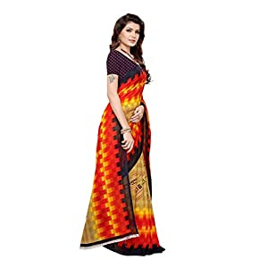 ANNI DESIGNER Georgette With Blouse Piece Saree